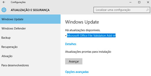 Para que serve Microsoft Office File Validation Add-in