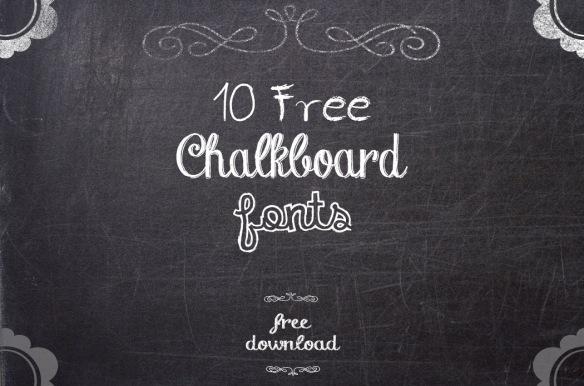 Destaque-Chalkboard-Fonts